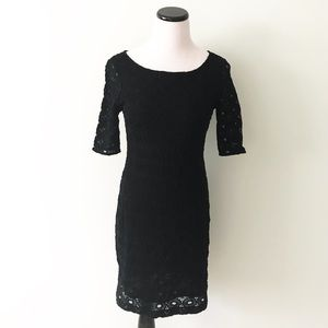 Banana Republic Black Lace Fitted Dress